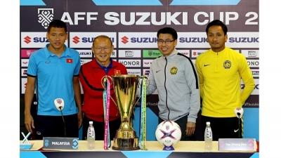 Coach Park calls for Vietnamese fans' support in AFF Cup final match against Malaysia