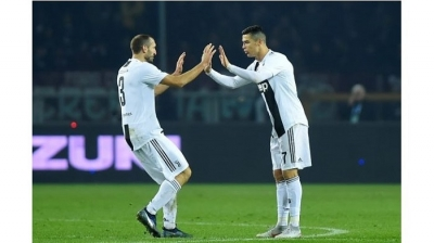 Ronaldo penalty wins Turin derby for relentless Juve