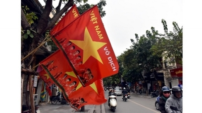 Vietnam vs Malaysia: Jubilant atmosphere in Hanoi ahead of AFF Cup final second leg