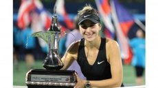 Unseeded Bencic upsets Kvitova to lift Dubai title