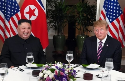 US President Donald Trump has working dinner with DPRK Chairman Kim Jong Un