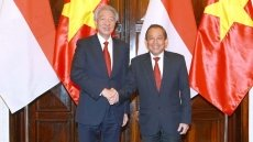 Vietnamese, Singaporean Deputy PMs hold talks