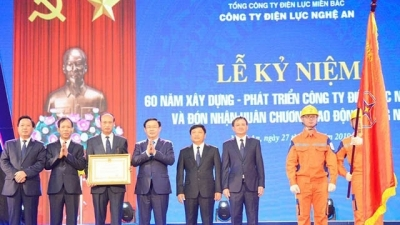Nghe An Power Company receives second-class Labor Medal