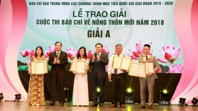 Nhan Dan Newspaper wins top prize at press contest on new rural area construction in 2018