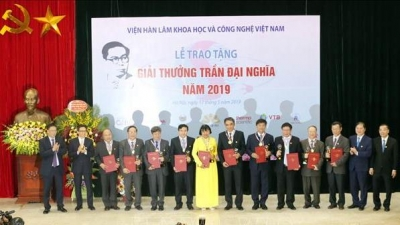 Tran Dai Nghia award honours outstanding scientists