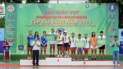 National tennis team tourney wraps up in Tay Ninh
