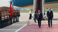 Official welcome ceremony for PM Phuc in Moscow