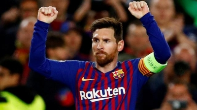 Messi finishes Europe's top scorer for third straight year
