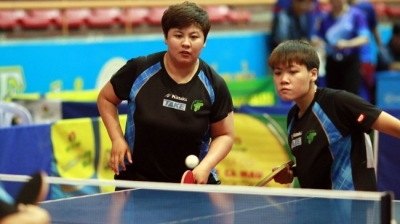 Nhan Dan table tennis tourney: Top men's double favourites crash out in first match