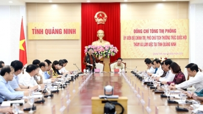 NA Standing Vice Chairwoman works with Quang Ninh province