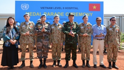 Vietnamese peacekeepers in South Sudan honoured with UN peacekeeping medals