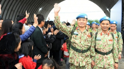 Peacekeepers sent off to UN mission