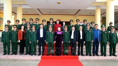 NA Chairwoman extends Tet wishes to soldiers of Dak Lak provincial High Command