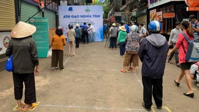 """Rice ATMs"" to support needy people amidst Covid-19 outbreak"