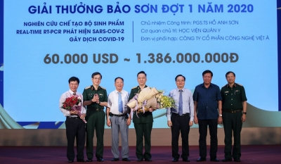 Real-time RT-PCR test kit for SARS-Cov-2 wins Bao Son Award
