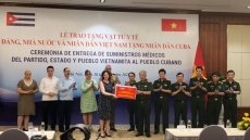 Covid-19 prevention medical supplies presented to Cuban people