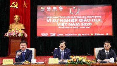 Winners of national press contest on Vietnamese education announced