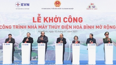 January 4-10: Construction of Hoa Binh hydropower plant expansion begins