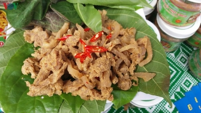 Sour pork – specialty of Muong ethnic minority in Phu Tho province