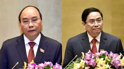 Leaders of countries, WEF congratulate new leaders of Vietnam