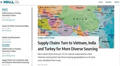 Vietnam among top three buying geographies of US firms