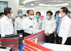 State President visits HCM City's major press agencies