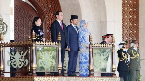 President holds talks with Bruneian Sultan