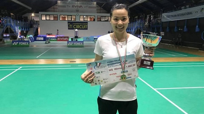 Vietnamese shuttler wins Italian international tournament