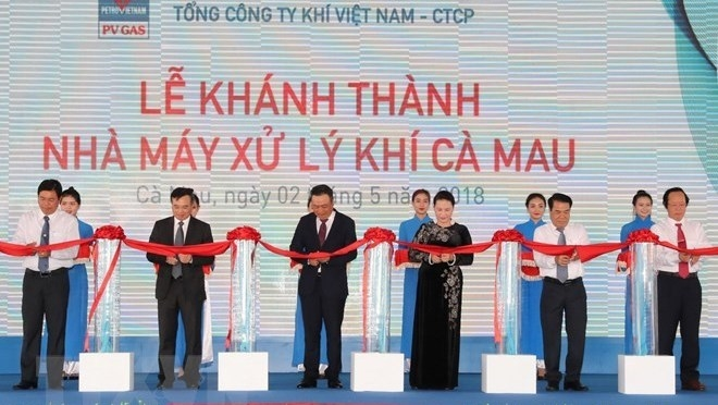 NA leader witnesses gas processing plant inauguration in Ca Mau