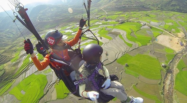 Paragliding festival offers stunning aerial views of Mu Cang