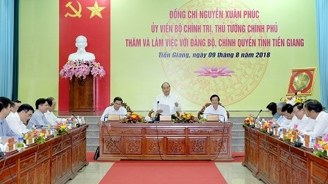 PM asks Tien Giang to boost growth based on farming, tourism, logistics