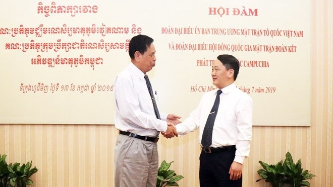 Vietnam, Cambodia boost cooperation in front work